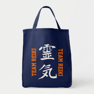 """Casey Coaching """"Team Reiki"""" Grocery Tote"""