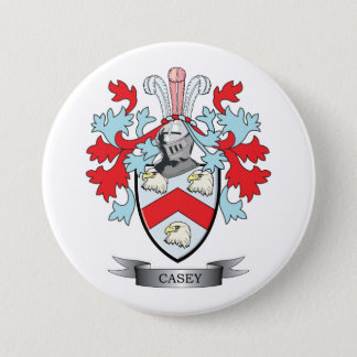 Casey Family Crest and Coat of Arms 7.5 Cm Round Badge