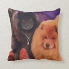 CASEY & SASHA heARTdog chow Cushion