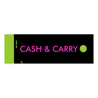 """CASH & CARRY"" Hang Tag Business Card Template"