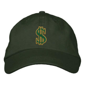 CASH DOLLAR SIGN Embroidered Cap Embroidered Baseball Caps