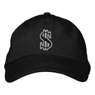 CASH DOLLAR SIGN Embroidered Cap Embroidered Hats