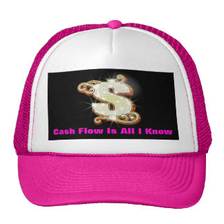 Cash Flow Is All I Know Bling Money Trucker Hat