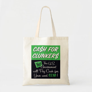 Cash for Clunkers Budget Tote Bag