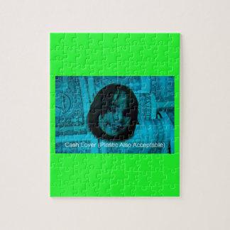 Cash Lover (Plastic Also Acceptable) Money Face Jigsaw Puzzle