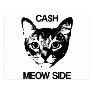 CASH MEOW SIDE POSTCARD