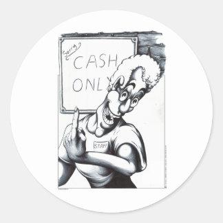 Cash Only Classic Round Sticker