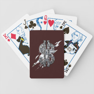 Cash Rules dollar Sign Diamond deck OF Cards