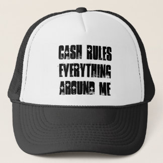Cash Rules Snapback Blk/Wht Trucker Hat