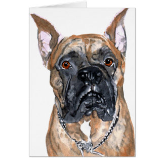 Cash the Boxer Greeting Card