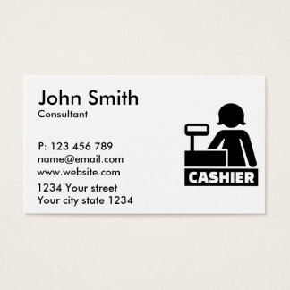 Cashier Business Card