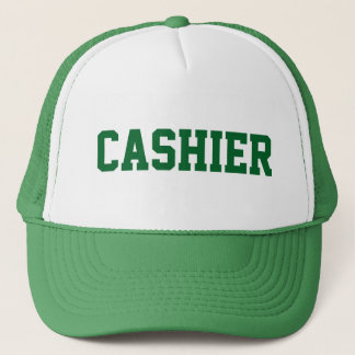 CASHIER Hat with Green Text