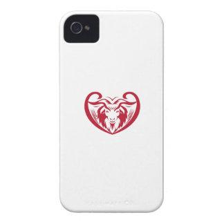 Cashmere Goat Head Retro iPhone 4 Cases