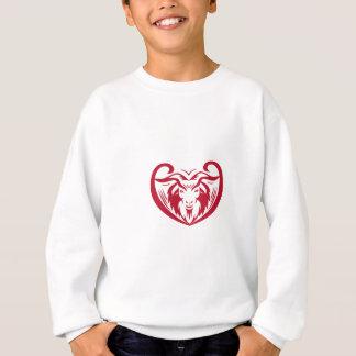 Cashmere Goat Head Retro Sweatshirt