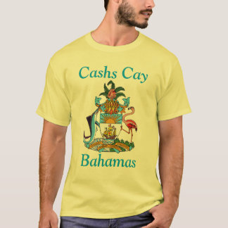 Cashs Cay, Bahamas with Coat of Arms T-Shirt