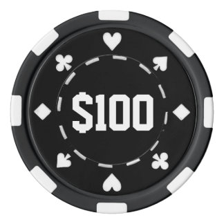 Casino, $100, Poker Chips, Black/White Poker Chips