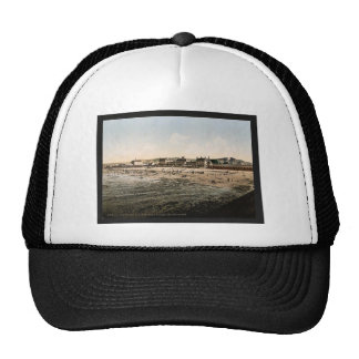 Casino and beach at low tide Cherbourg France vi Trucker Hats