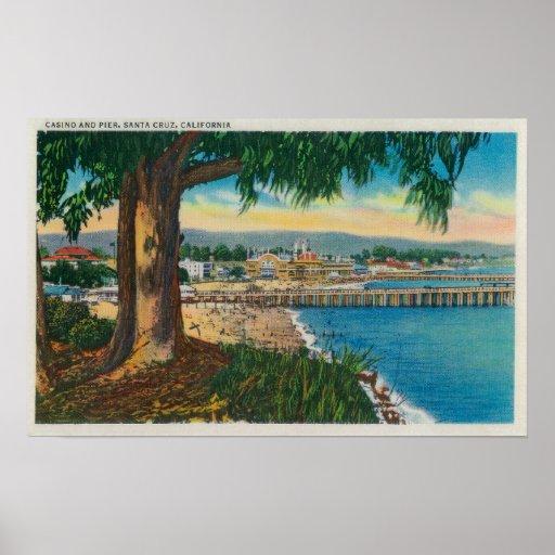 Casino and Pier, Santa CruzSanta Cruz, CA Posters