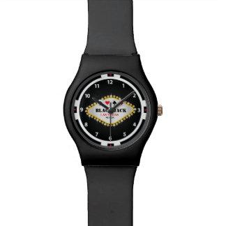 Casino Black Jack Chip Watch