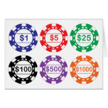 Casino Chips Card