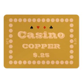 Casino ~COPPER~ Poker Chip Plaque $.25 (100ct) Business Card