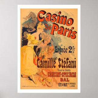 Casino de Paris Vintage Art Poster