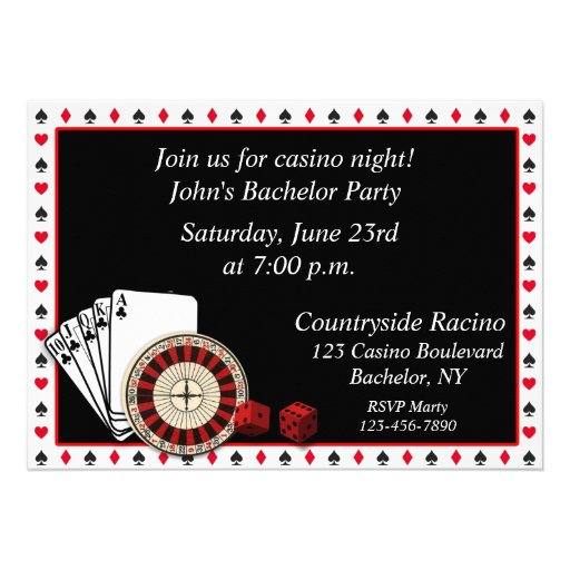 Casino Event Custom Invitation