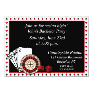 Casino Event 13 Cm X 18 Cm Invitation Card