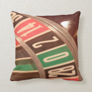 Casino Gambling Roulette Wheel Vintage Retro Styl Throw Pillows