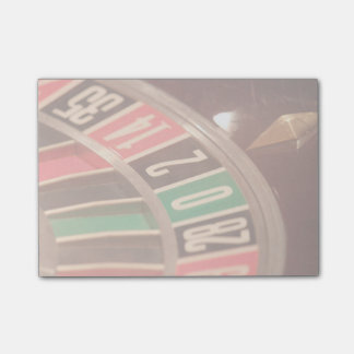 Casino Gambling Roulette Wheel Vintage Retro Styl Post-it® Notes