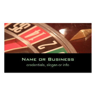 Casino Gambling Roulette Wheel Vintage Retro Style Business Cards