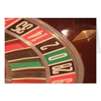 Casino Gambling Roulette Wheel Vintage Retro Style Greeting Cards