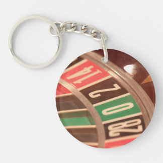 Casino Gambling Roulette Wheel Vintage Retro Style Acrylic Key Chains