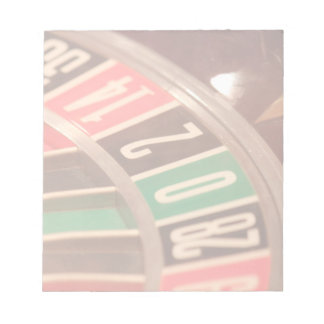 Casino Gambling Roulette Wheel Vintage Retro Style Memo Note Pad
