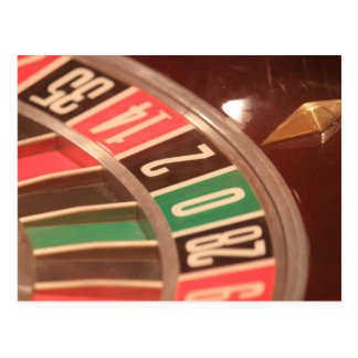 Casino Gambling Roulette Wheel Vintage Retro Style Post Card