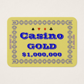Casino ~GOLD~ Poker Chip Plaque $1M (100ct) Business Card
