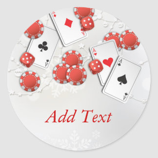 Casino Holiday Classic Round Sticker