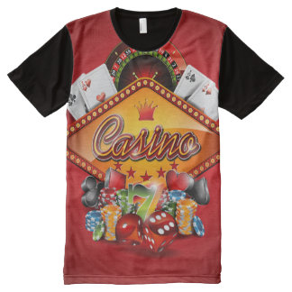 Casino illustration with gambling elements All-Over print T-Shirt
