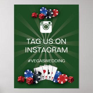 Casino Instagram Sign Vegas Wedding Reception