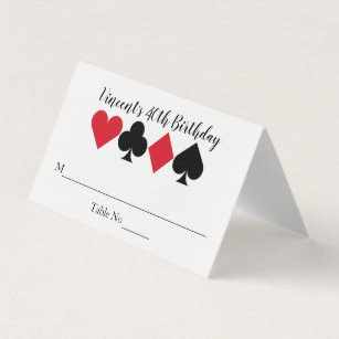 Casino Las Vegas Birthday Personalised Place Card