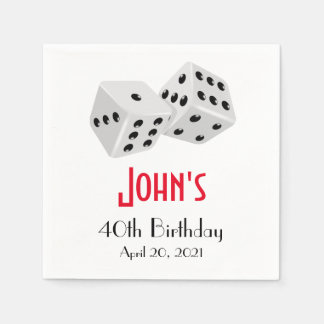 Casino Las Vegas Birthday Personalized Napkin Disposable Napkin