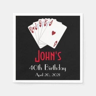 Casino Las Vegas Birthday Personalized Napkin Disposable Napkins