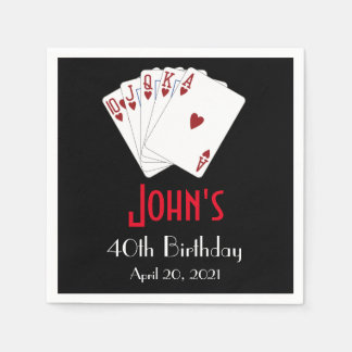 Casino Las Vegas Birthday Personalized Napkin Disposable Serviette