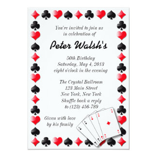 Casino Las Vegas Sweet 16 Invitation