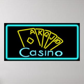 Casino Neon Sign Poster