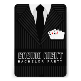 Casino Night Bachelor Party Custom Invitation Invite