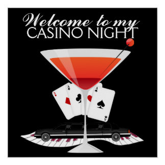 Casino Night Cocktail Poster - SRF