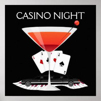Casino Night Cocktail Poster - SRF