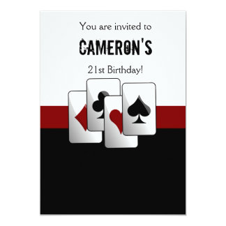 """Casino night party Invitation 5"""" X 7"""" Invitation Card"""