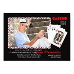 Casino Night Photo Invitation 13 Cm X 18 Cm Invitation Card